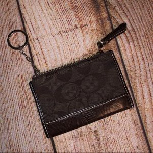 Coach Brown Mini Skinny Wallet/Coin Purse/Keyring!